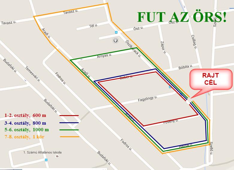 FUT AZ ÖRS! futóverseny - Budaörsi 1. Számú Általános Iskola