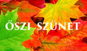 Őszi szünet - ügyelet