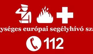 Egységes európai segélyhívó szám használata