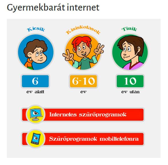 gyermekbarát internet