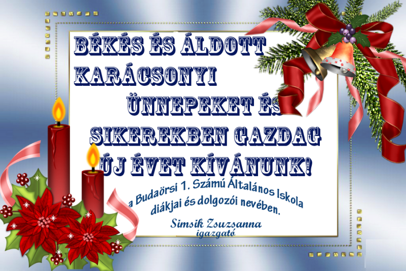Békés és boldog karácsonyi ünnepeket