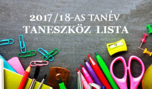 2017/2018-as tanév taneszköz igények