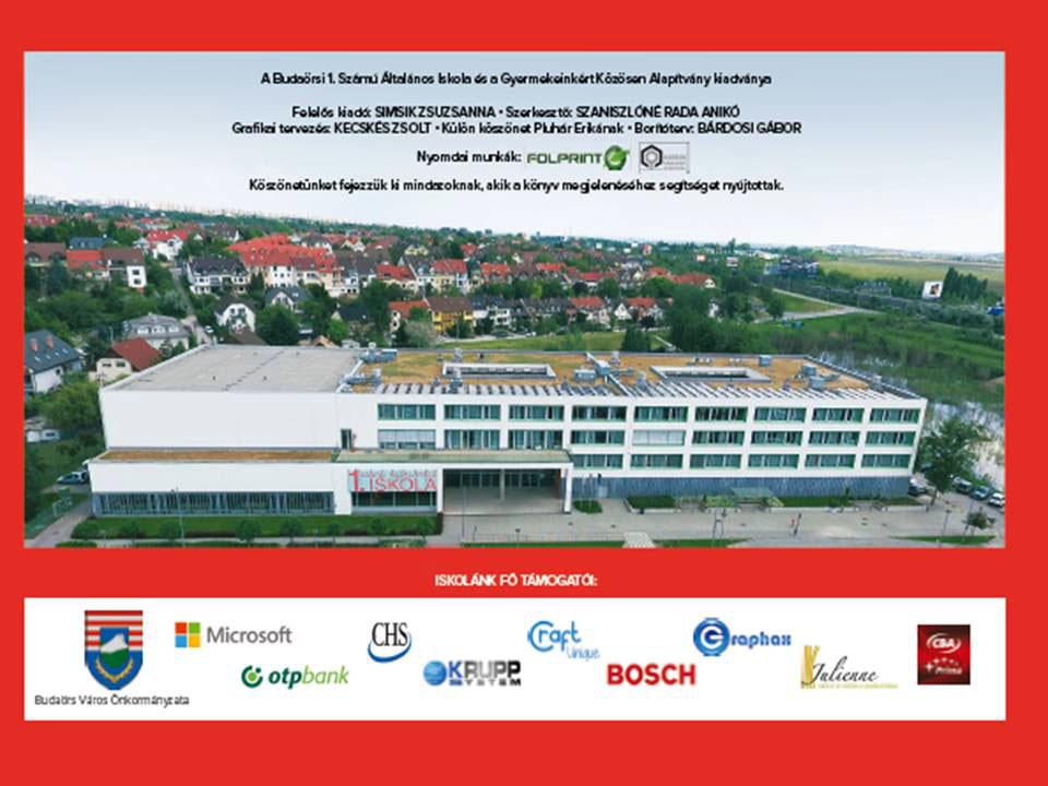 Budaörsi 1. Számú Általános Iskola - Évkönyv 2018